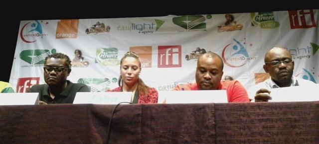 Zaho en conférence de presse à l'IFC-Douala