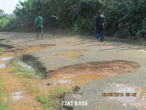 Vue actuelle d'un tronçon du parcours vita à Douala